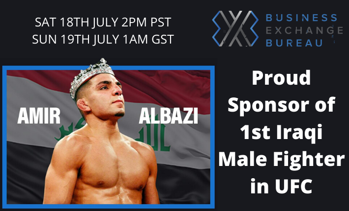 BXB Proudly Sponsors Amir Albazi as he makes his UFC Debut on Fight Island, Abu Dhabi...