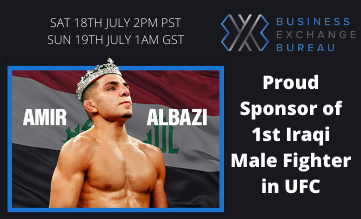BXB Proudly Sponsors Amir Albazi as he makes his UFC Debut on Fight Island, Abu Dhabi | BXB
