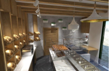 Small-restaurant-with-wood-fired-oven-and-all-kitchen-equipment-1